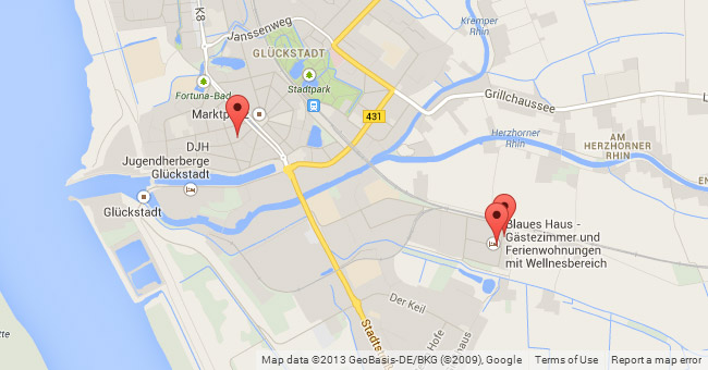 Karte mit Positionsanzeige